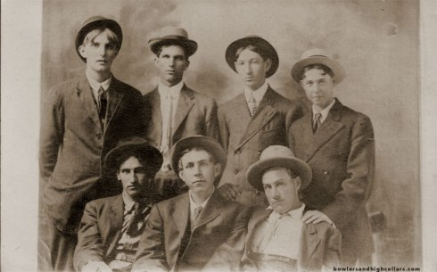 Seven friends. RPPC. Private Collection.