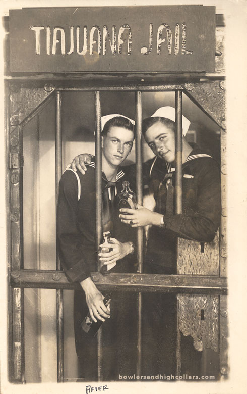 Bill Hall & Jim Pollen. RPPC. Private Collection.