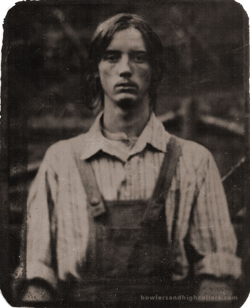 The Christ-like farmer. Tintype. Private Collection.