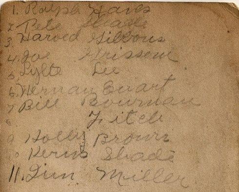 names of crew members.