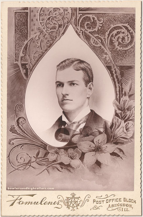 Walter Henry Camp. Memorial card. Private Collection.