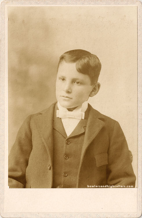 Walter Henry Camp circa 1881. Cabinet card. Private Collection.