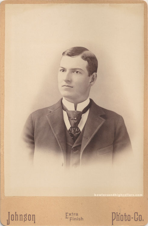 Walter Henry Camp in the late 1880s or early 1890s. Cabinet card. Private Collection.