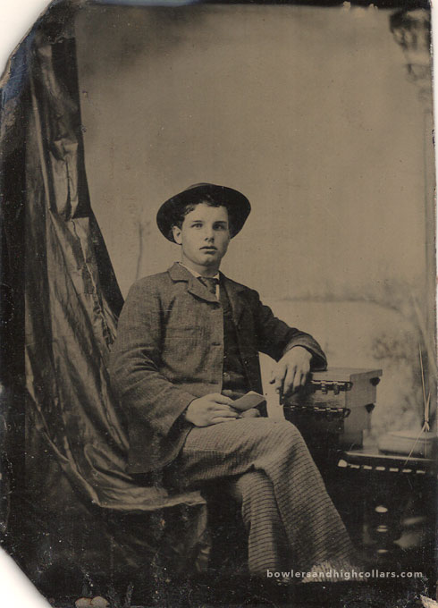 Occupational tintype ca 1880's. Private Collection.